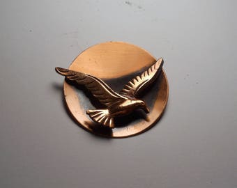 Beautiful Mid Century Modern Copper Brooch