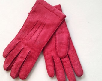 Red leather, red gloves glove