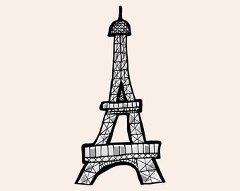 Paris hand drawn 5x7 pack of prints with choice to personalise