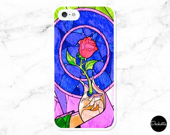 Beauty And The Beast, Glass Window iPhone & Samsung Case