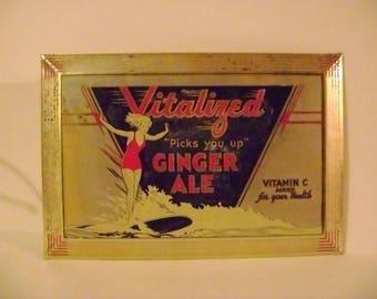 Vintage Vitalized Ginger Ale Sign