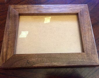 Handmade Walnut Wood Picture Frame