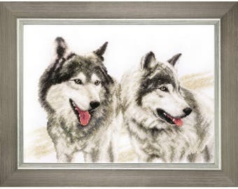 Counted Cross Stitch Kit Grey brothers