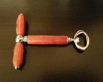 Padauk Wood 2-in-1 Bottle Opener
