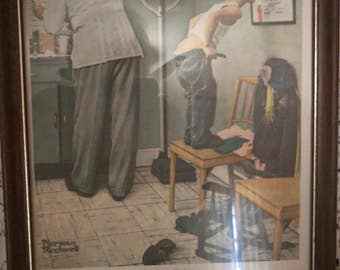 At the Doctors, Norman Rockwell print