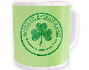St Patrick's Day Beermat mug
