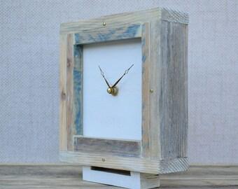 Desk Clock, Table Clock, Modern Clock, Clock, Square Wooden Clock,  Hanmdade Clock, Small Clock, Rustic Clock, Table Clock, Wood Clock