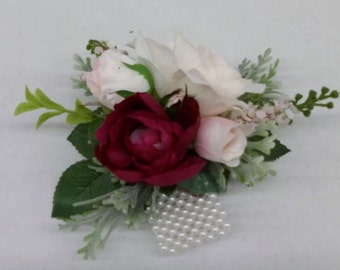 Pink/Cranberry Wrist Corsage