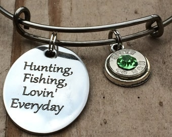 Hunting and fishing bullet bangle