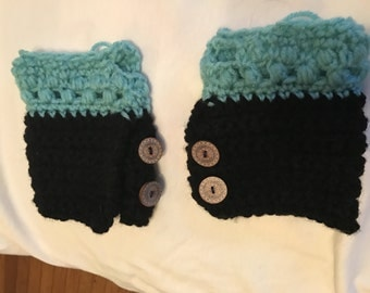 Fingerless gloves (crochet)