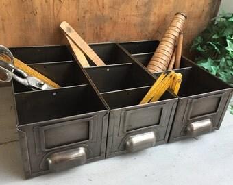 Set of 3 metal industrial lockers