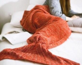 Mermaid tail Blanket. Crochet mermaid. Cozy blanket. The  best gift ever. Handmade mermaid tail throw. For girls. Cute mermaid .