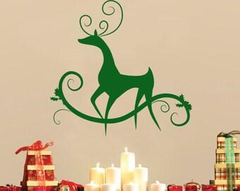 Reindeer Christmas Wall Decal