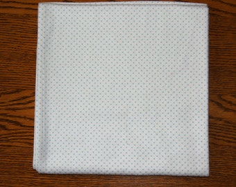 Swaddler: White with Blue Polka Dots