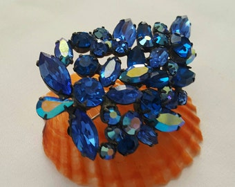 REGENCY Blue Rhinestone Pin