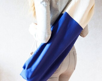 Blue Yoga Bag / minimal / cotton / eco / Nautical