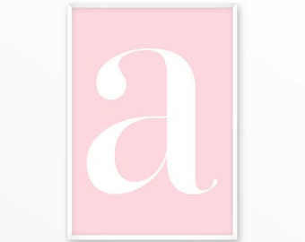 Letter a Print, A Initials Poster, scandinavian design, monogram, printable, Typography, Poster, Inspirational Home Decor, wall art, gift
