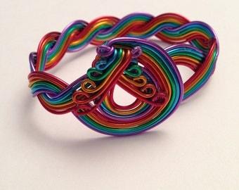 Rainbow loops bracelet