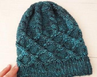 KNITTING PATTERN: Eucalyptus hat, beanie / Instant download PDF