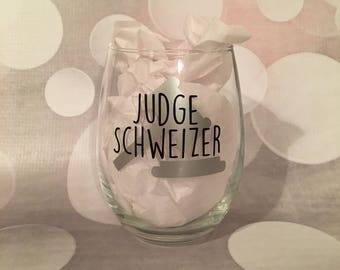 Personalized Judge Glass
