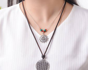 Flower Of Life Necklace 2 Piece