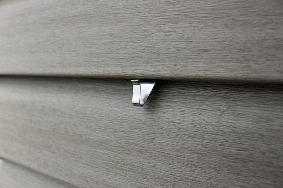Fiber Cement Siding Clips : No hole vinyl siding hook for without
