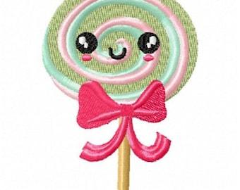 Kawaii Cute lolly Pop Machine Embroidery Design