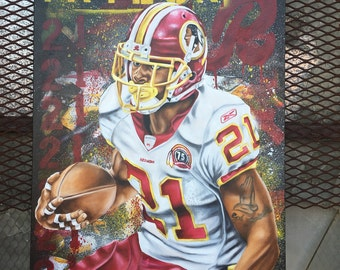 Sean Taylor 18x24 hand embellished print