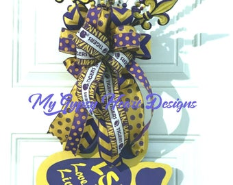 Door Hanger,LSU Collegiate Tiger Door Hanger, LSU Collegiate Tiger Paw Door Hanger, LSU  Geaux Tigers Paw Door Hanger, Sports Door Wreath