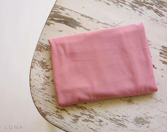Dusty rose stretch wrap; newborn wrap photo prop
