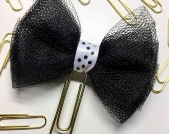 Black with polkadots