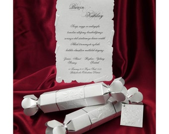 Scroll Wedding Invitation Personalized Unique Card Candy Style