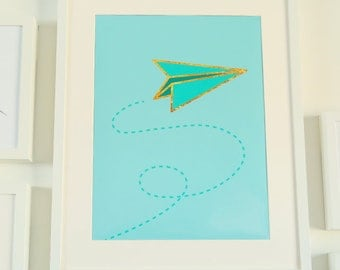 Paper Airplane - Printable Sign