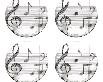 A pack of 4 music notes design Pattern weights Ideal for weighing down patterns on delicate fabrics no need for pins