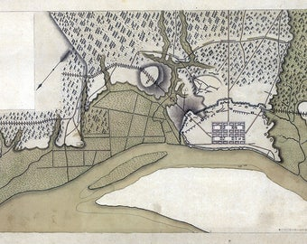 1779 Map of Savannah Georgia