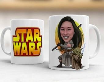 Star Wars Gift - Star Wars Mug - Custom Star Wars Caricature - Star Wars Cup - Yoda Mug - Yoda Best Mug - Star Wars Art - Star Wars Decor