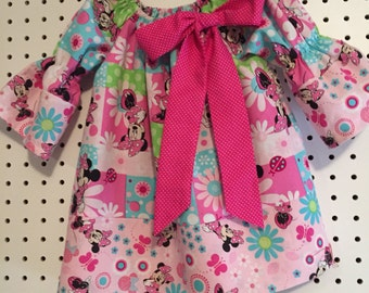 Minnie Mouse pretty in pink toddler girls dress in size 2T, 3T, 4T