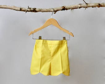 Yellow Tulip Shorts