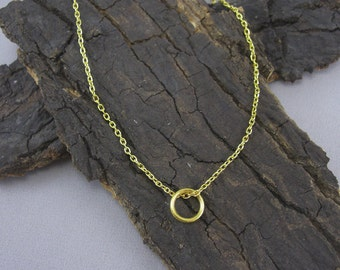 Necklace pendant ring gold