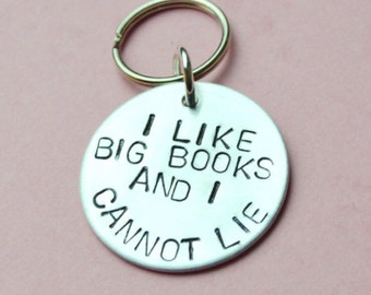 I like big books and cannot lie, UK, Valentines day gifts keyring Gift for her, Gift for book lover, book worm, book lover gift, book reader
