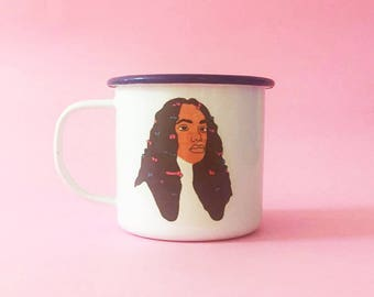 Illustrated Solange Mug Enamel 8cm Cup