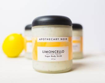 LIMONCELLO - Sugar Body Scrub - Lemon + Vanilla + Poppyseed - LIMITED