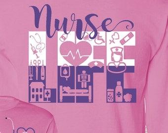 NurseLife Monogrammed Shirt Great Nursing Gift Idea Nurse Nursing Nurse Life