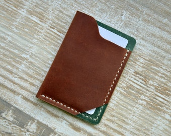 Mens Custom Leather Wallet , Slim Mens Wallets, Gifts for Men, Minimalist Gift Ideas, wallets for men, leather wallets,mens wallet, Handor