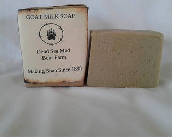 Dead Sea Mud Goats Milk Soap