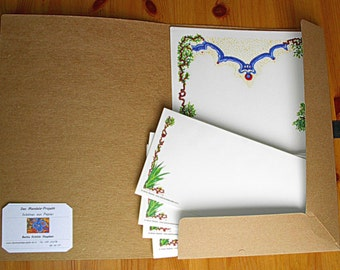 "Set: Letter paper ""earthly flower, celestial light"""