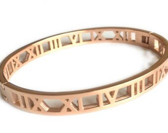 Roman Numeral Metal Bangle (3 colors)