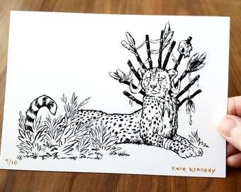 Voodoo Cheetah (limited edition print)