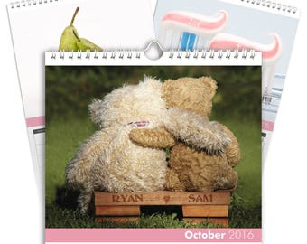 Personalised Me and You Calendar - Desktop Calendar