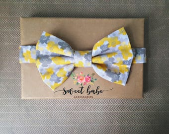 Sunbeam Bow Tie, Sunbeam and Gray Bow Tie, Yellow and Gray Bow Tie, Ring Bearer Bow Tie, Bow Tie For Boys, Little Boy Bow Tie,Yellow Bow Tie